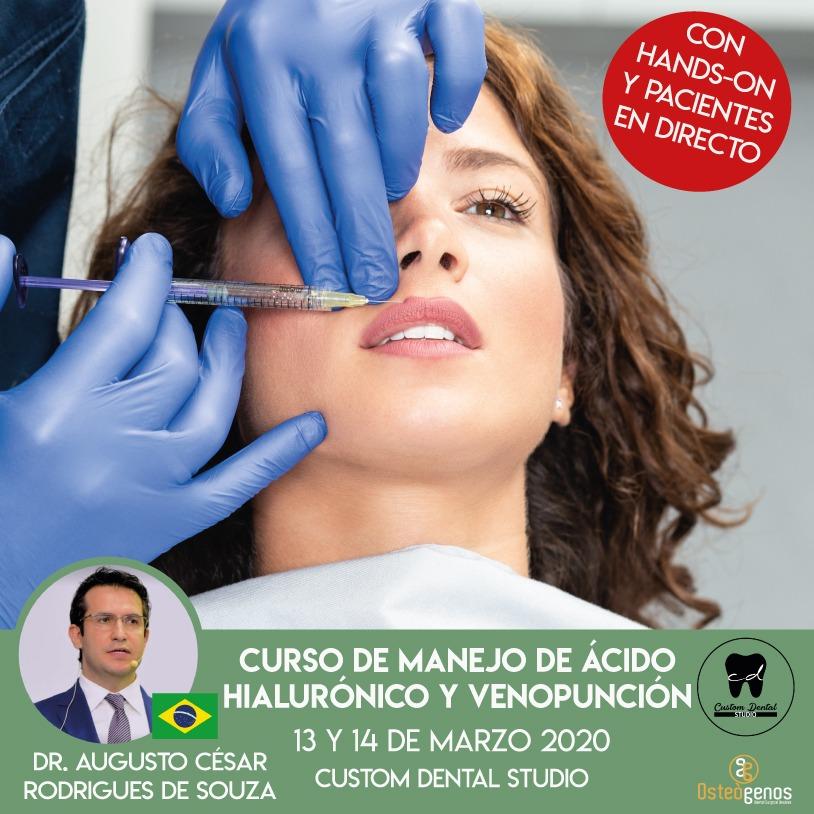 CURSO DE MANEJO DE ÁCIDO HIALURÓNICO Y VENOPUNCIÓN. *Hands on y práctica en pacientes (3ª edición)*